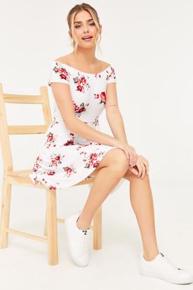 Ardene Off Shoulder Floral Mini Dress