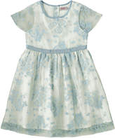 Cath Kidston Mono Spray Flowers Girls Organza Dress