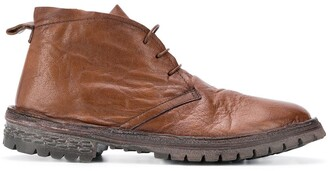 Moma Buffalo Leather Lace-Up Ankle Boots