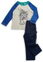 Charlie Rocket Baby Boys Tiger Raglan Tee and Pants Set
