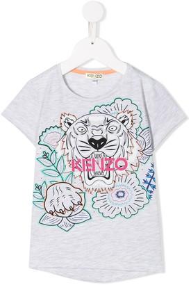 Kenzo Kids Tiger-print T-shirt