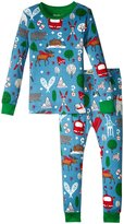 Hatley Vintage Ski Pajama Set (Toddler/Kid) - Blue - 8