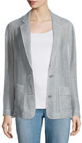 Eileen Fisher Mesh Two-Button Blazer, Natural, Plus Size