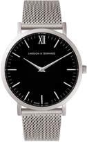 Larsson & Jennings Lugano 40mm Silver & Black Watch