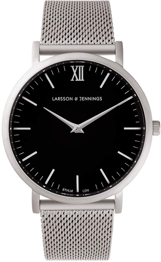 Larsson & Jennings Lugano 40mm Silver & Black Watch