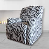 Sure Fit Statement Prints Zebra Recliner Cover