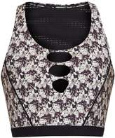 TRACK & BLISS Flowerbomb-print performance bra