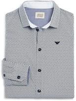 Armani Junior Armani Boys' Logo and Circle Dress Shirt - Little Kid, Big Kid