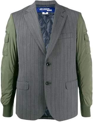Junya Watanabe contrast style V-neck bomber jacket