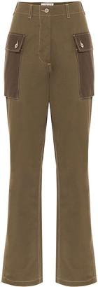 Loewe High-rise cotton cargo pants