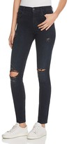 J Brand Maria High Rise Skinny Jeans in Destructed Sanctity