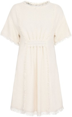 Alberta Ferretti Cotton-blend Dress