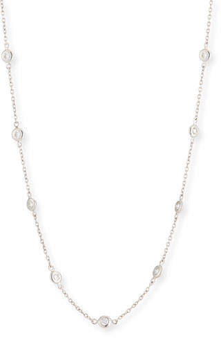 Jude Frances 18k White Gold Diamond By-the-Yard Necklace