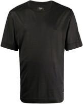 Fendi embroidered logo silk T-shirt