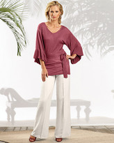 Kimono-Style V-Neck Sweater