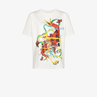 Angel Chen dragon print cotton T-shirt