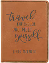Stamp Out Passport Holders rawhide - Rawhide 'Travel Far Enough' Personalized Passport Cover