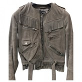 The Kooples Grey Leather Leather jackets