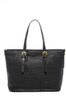 Cole Haan Woven Leather Tote Bag