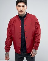 Farah Bellinger Nylon Bomber Jacket in Red
