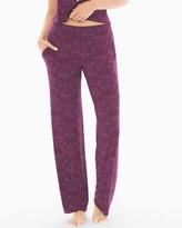 Soma Intimates Pajama Pants Nouveau Scroll Merlot