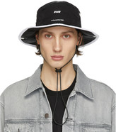 MSGM Black Logo Strap Bucket Hat