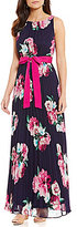 Jessica Howard Floral Pleated Maxi Dress