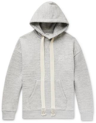 Loewe Oversized Logo-Embroidered Melange Fleece-Back Cotton-Jersey Hoodie