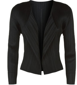 Pleats Please Issey Miyake Cropped Plisse Cardigan