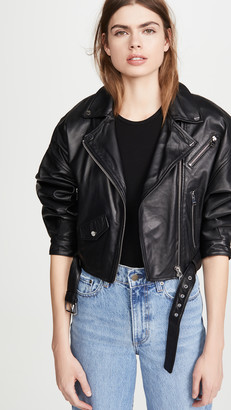 One By Lamarque Dylan Leather Jacket