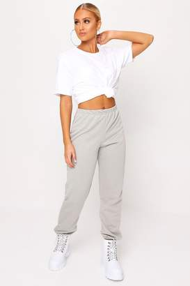 I SAW IT FIRST Grey Marl Basic Cuffed Hem Jogger