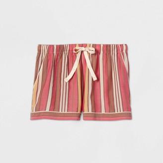 Stars Above Women's Striped Simply Cool Pajama Shorts - Stars AboveTM Burgundy