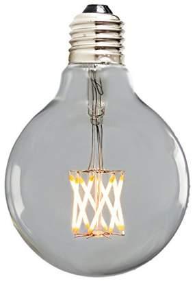 Nostalgia Lights G80-8LED.ES60 Globe LED Filament Bulb, Glass, Silver, E27, 60 W, Small