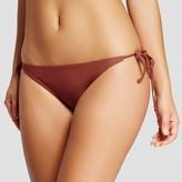 Xhilaration Women's Embroidered String Bikini Bottom