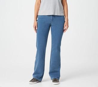 Quacker Factory DreamJeannes Regular 5-Pkt Zip-Fly Boot Cut Jeans