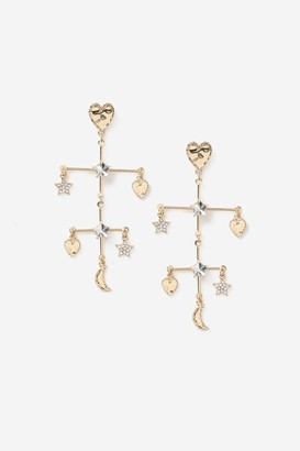 Topshop Star and Heart Mobile Earrings