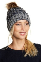 Natasha Accessories Stud Accent Faux Fur Lined Beanie