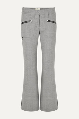 Erin Snow Parker Wide-leg Merino Wool Ski Pants - Gray