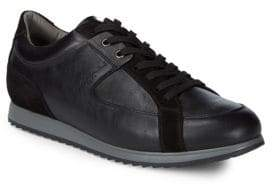 Canali Leather Lace-Up Sneakers