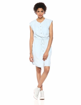 Daily Ritual Amazon Brand Women's Tencel Short-Sleeve Utility Dress