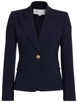 Michael Kors One-Button Wool-Blend Blazer