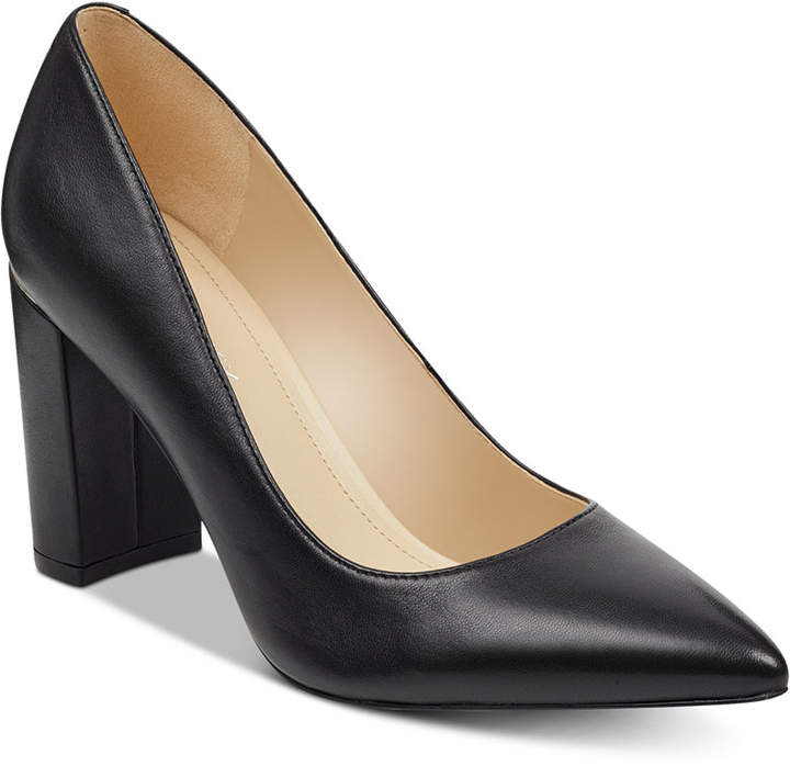 Marc Fisher Viviene Block-Heel Pumps Women Shoes