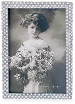 One Kings Lane Palmyra Jeweled Picture Frame - Silver - 5x7