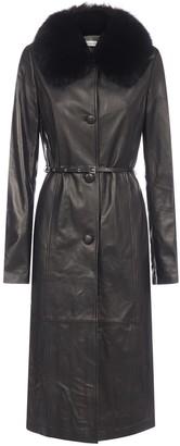 Saks Potts Charlot Fur Trimmed Coat