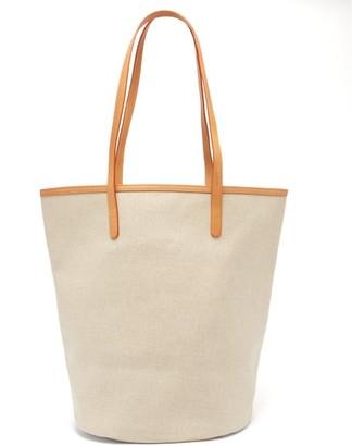 Mansur Gavriel Canvas Leather-trimmed Tote Bag - Beige Multi