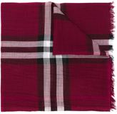 Burberry checked scarf - women - Wool/Silk - One Size
