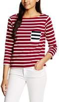 Stefanel Women's Jersey Rigato T-Shirt,XS