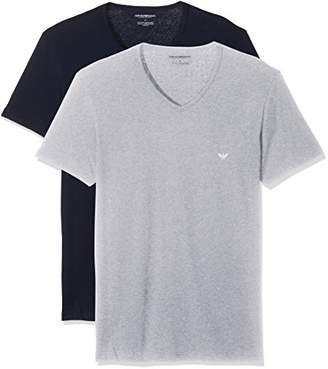 Emporio Armani Men's 111648CC722 Pyjama Top,S (Pack of 2)
