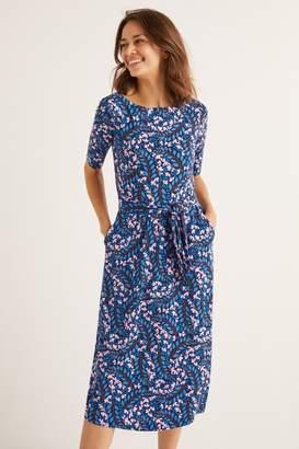Boden Womens Blue Eloise Jersey Dress - Blue