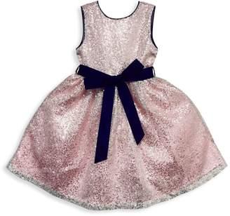 Joe Ella Little Girl's & Girl's Sequined Dress